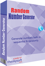 Helps generate and save millions of random and sequential numbers within mins.